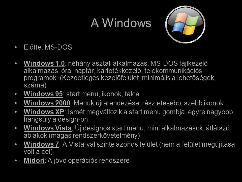 A Windows Előtte: MS-DOS