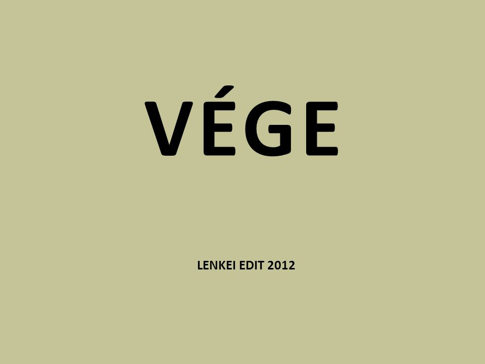 VÉGE LENKEI EDIT 2012