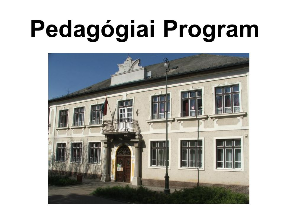 Pedagógiai Program