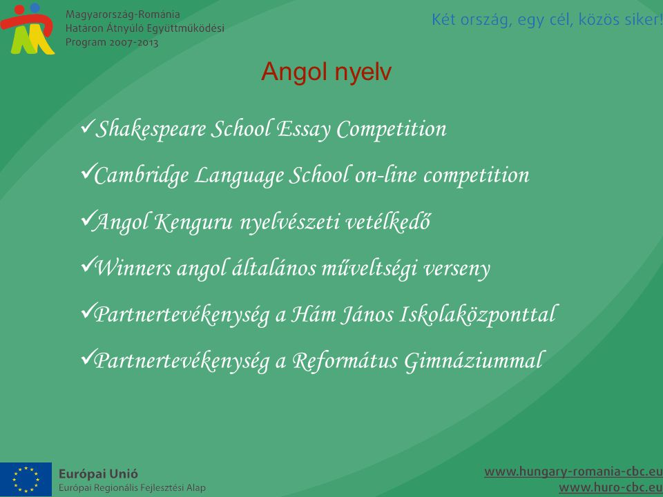 Cambridge Language School on-line competition