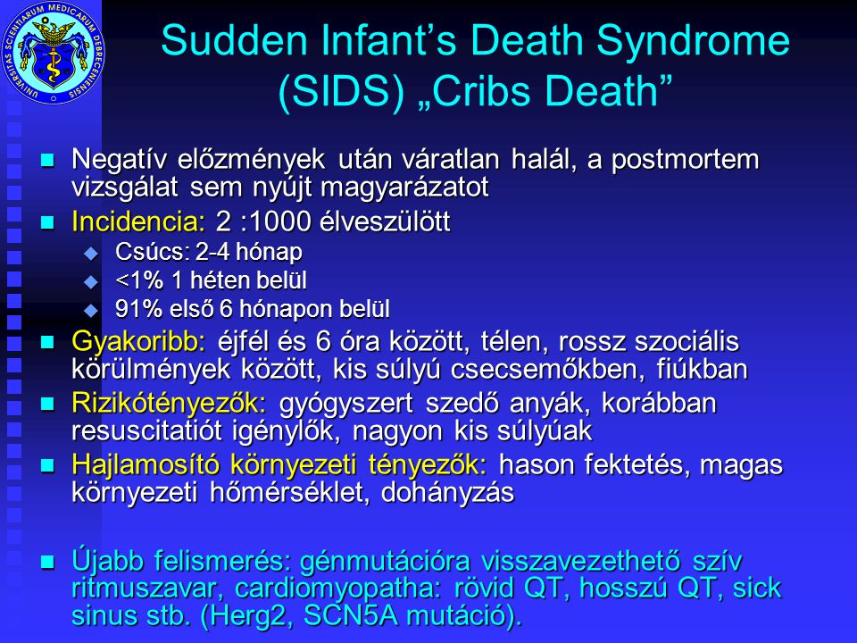 "Sudden Infant's Death Syndrome (SIDS) ""Cribs Death"