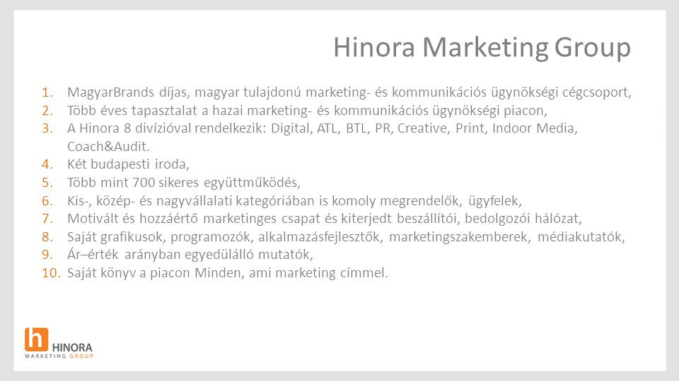 Hinora Marketing Group