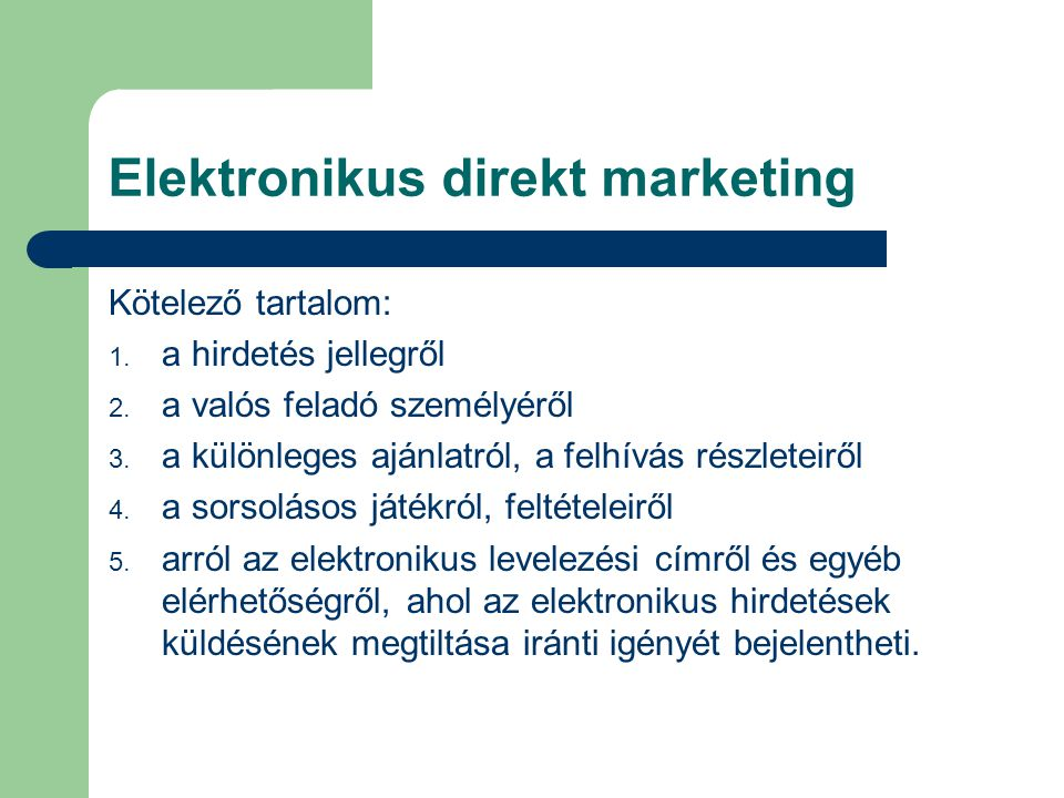 Elektronikus direkt marketing