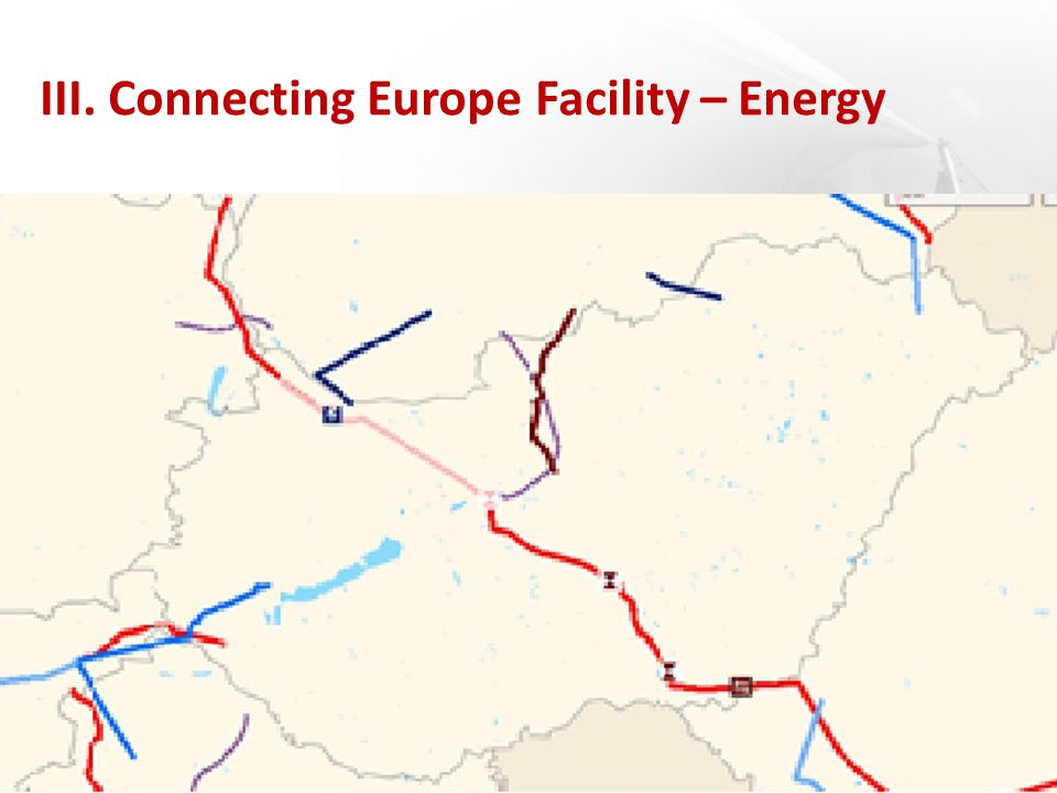 III. Connecting Europe Facility – Energy
