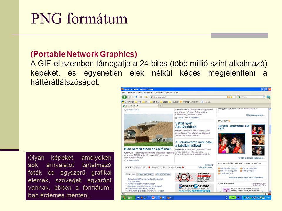 PNG formátum (Portable Network Graphics)