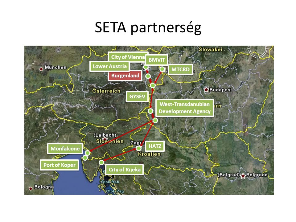 SETA partnerség City of Vienna BMVIT Lower Austria MTCRD Burgenland
