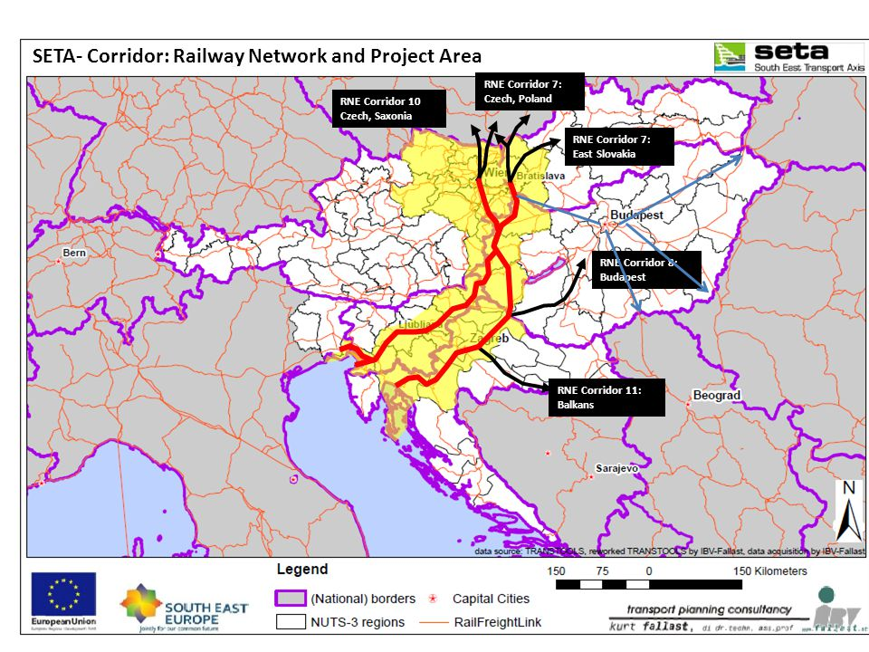 SETA- Corridor: Railway Network and Project Area