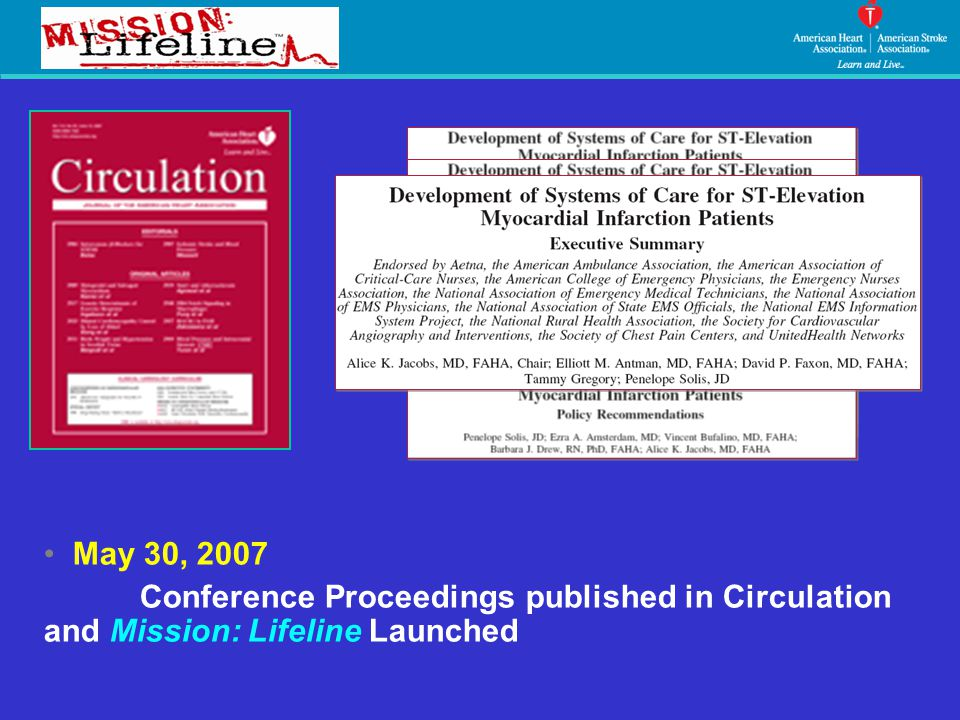 May 30, 2007 Conference Proceedings published in Circulation and Mission: Lifeline Launched