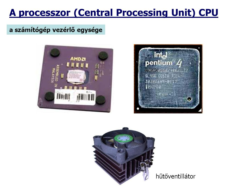 A processzor (Central Processing Unit) CPU