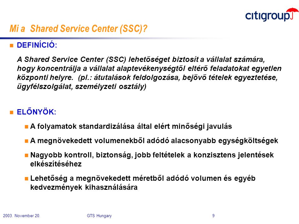 Mi a Shared Service Center (SSC)