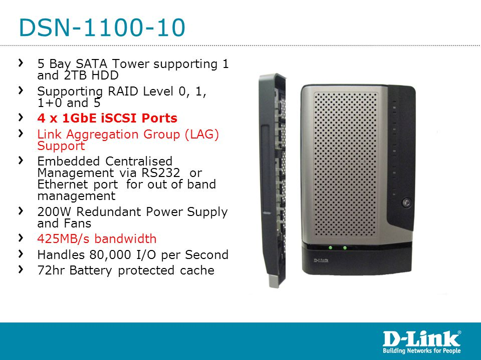 DSN-1100-10 5 Bay SATA Tower supporting 1 and 2TB HDD