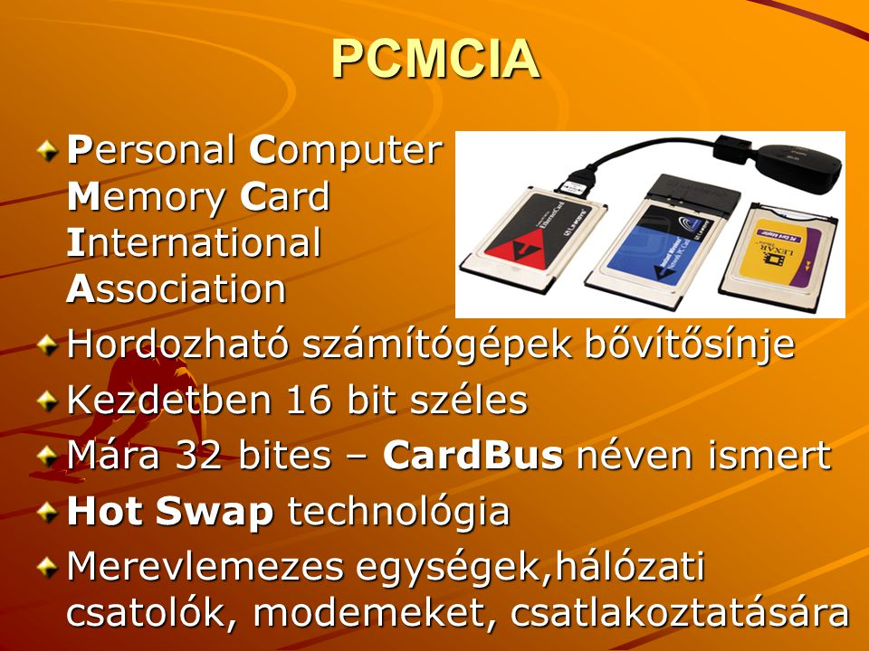 PCMCIA Personal Computer Memory Card International Association