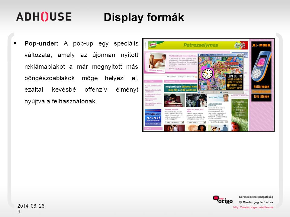 Display formák
