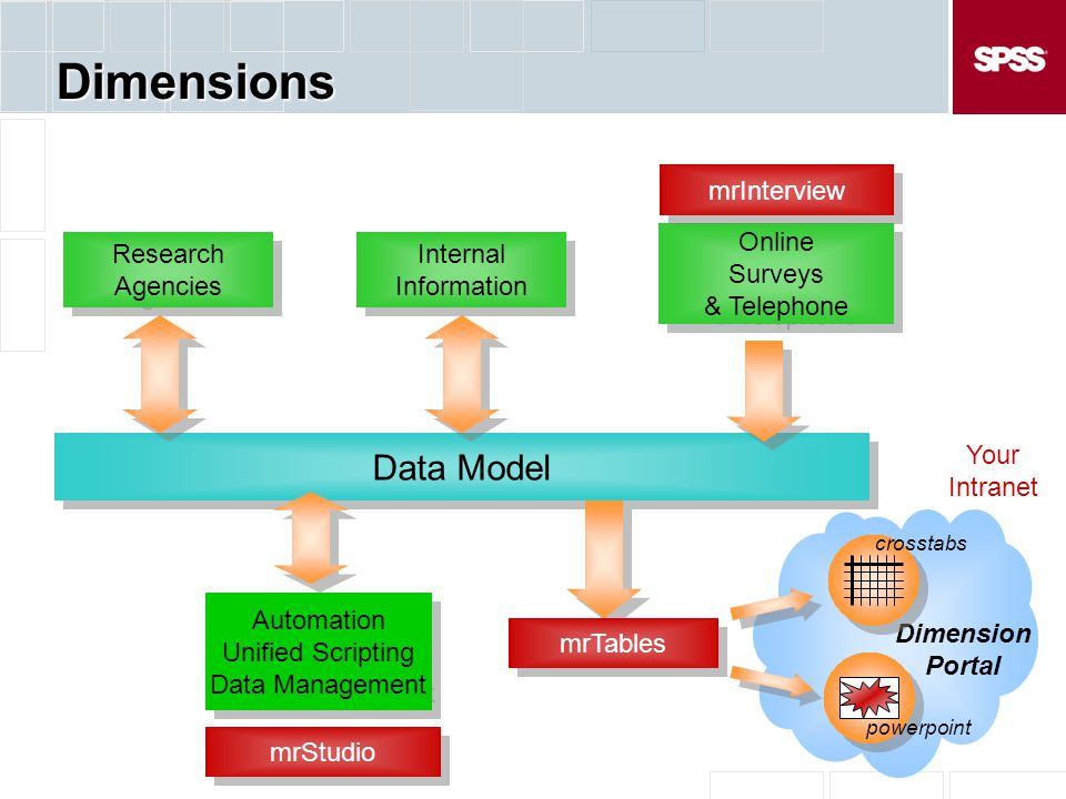 Dimensions Data Model mrInterview Online Surveys & Telephone Research