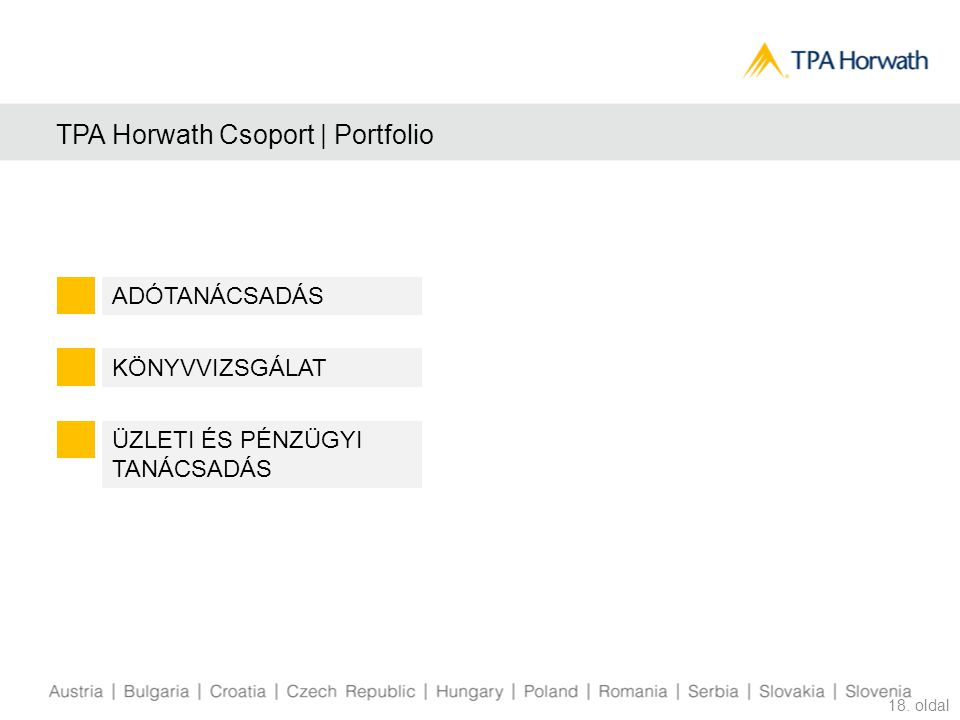 TPA Horwath Csoport | Portfolio