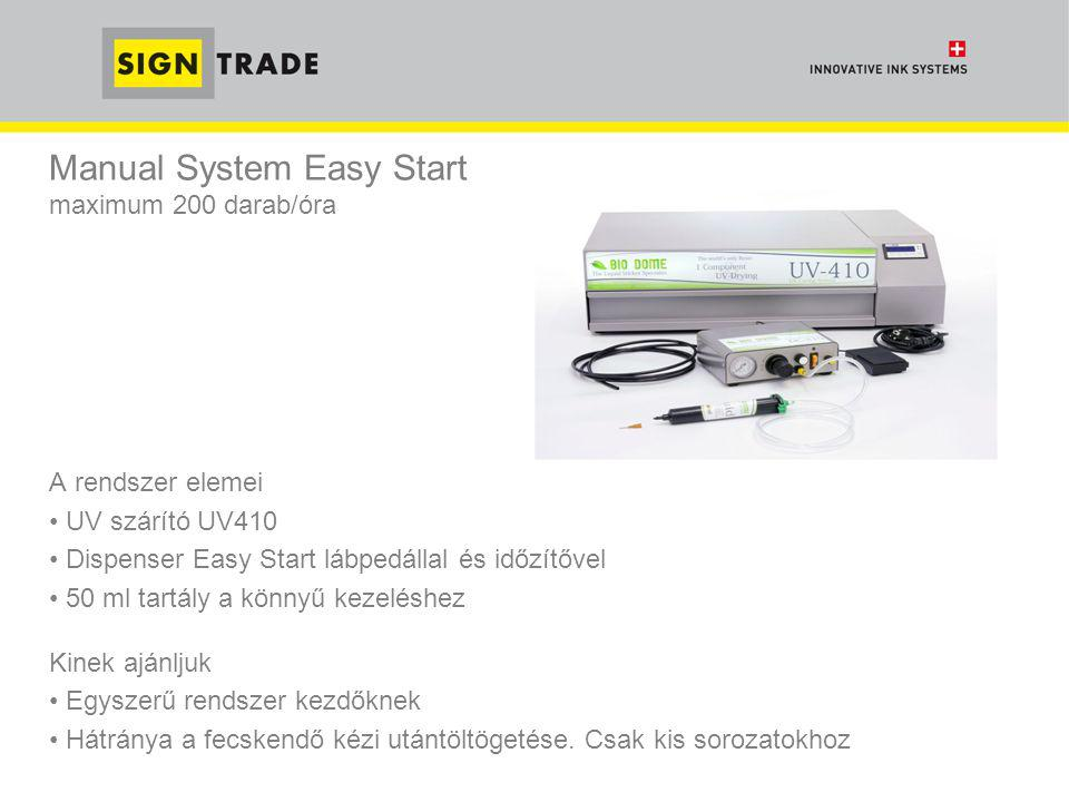 Manual System Easy Start maximum 200 darab/óra