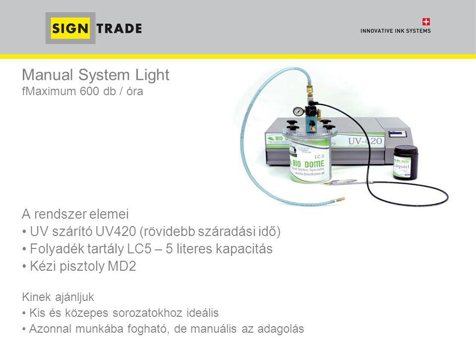Manual System Light fMaximum 600 db / óra