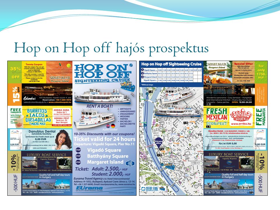 Hop on Hop off hajós prospektus