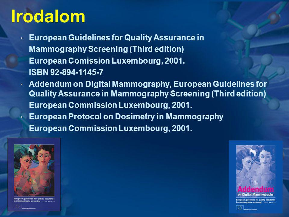 Irodalom European Guidelines for Quality Assurance in