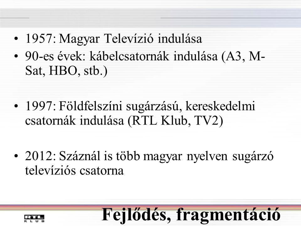 jövőkép és televízió