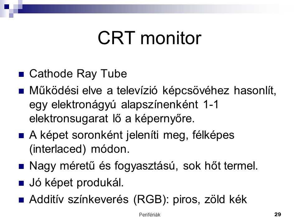 CRT monitor Cathode Ray Tube