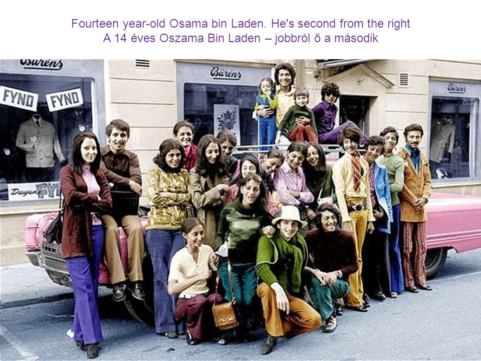 Fourteen year-old Osama bin Laden