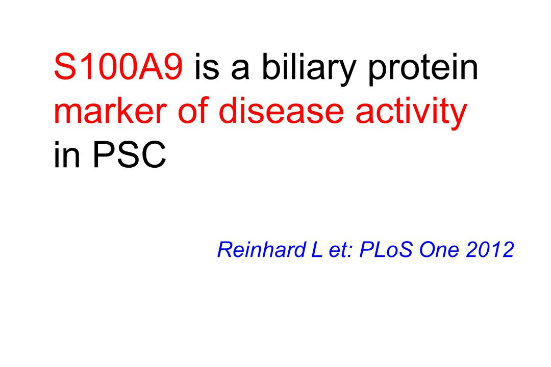 marker of disease activity in PSC