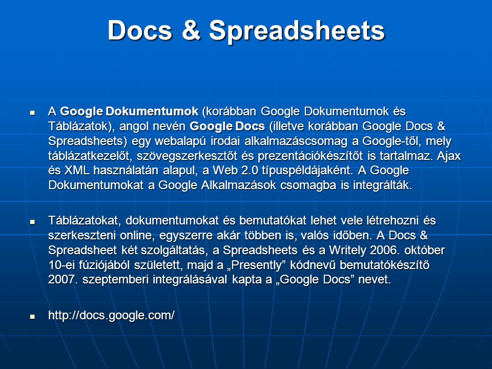 Docs & Spreadsheets