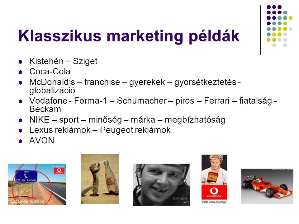 Klasszikus marketing példák
