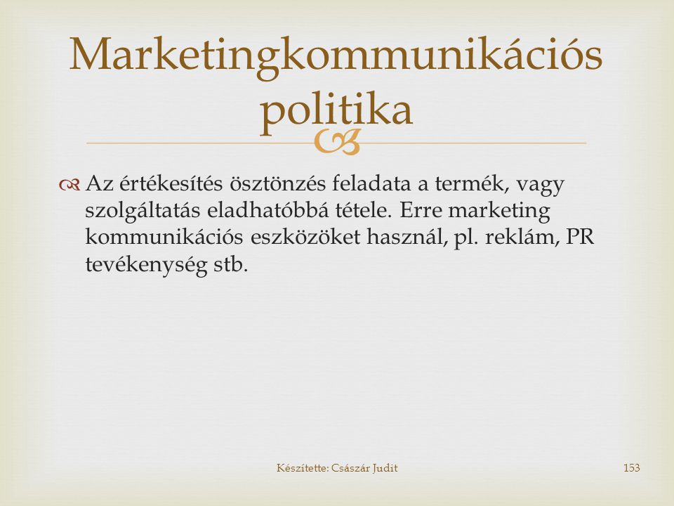 Marketingkommunikációs politika