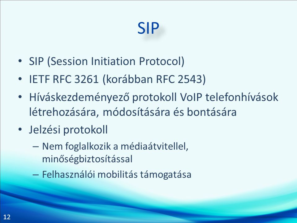 SIP SIP (Session Initiation Protocol)