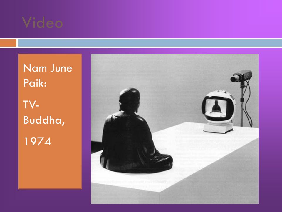 Video Nam June Paik: TV- Buddha, 1974