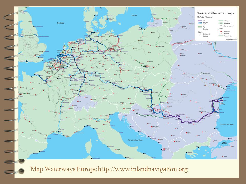 Map Waterways Europe