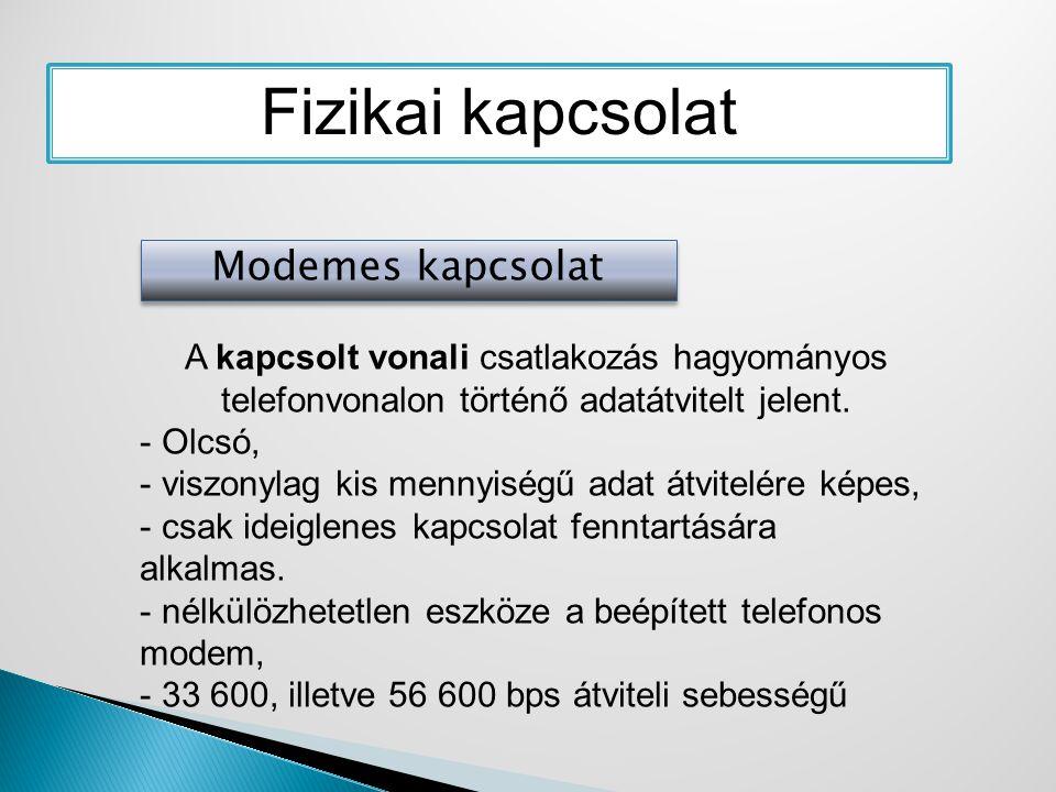 ideiglenes internetkapcsolat