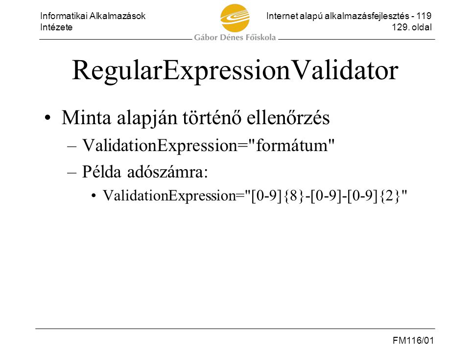 RegularExpressionValidator