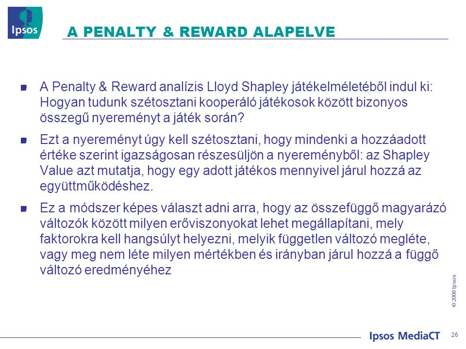 A PENALTY & REWARD ALAPELVE