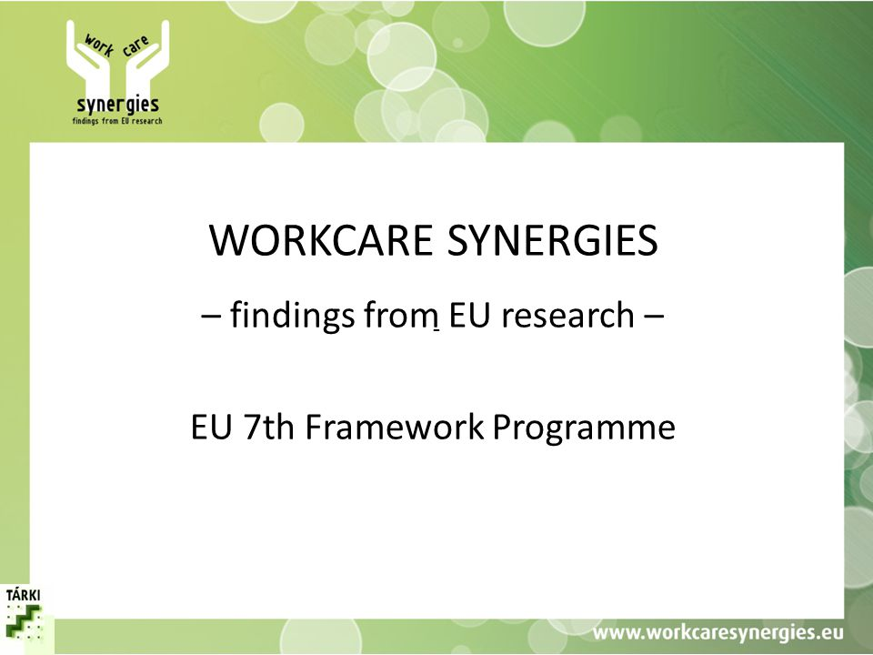 – findings from EU research – EU 7th Framework Programme