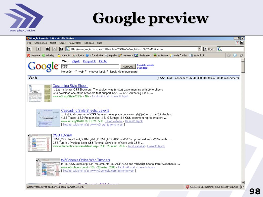 Google preview