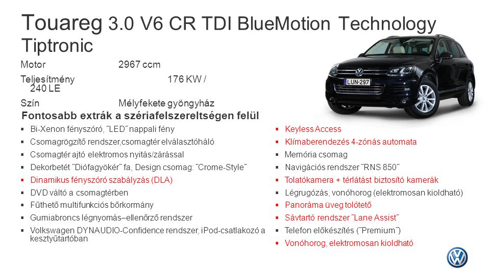 Touareg 3.0 V6 CR TDI BlueMotion Technology Tiptronic