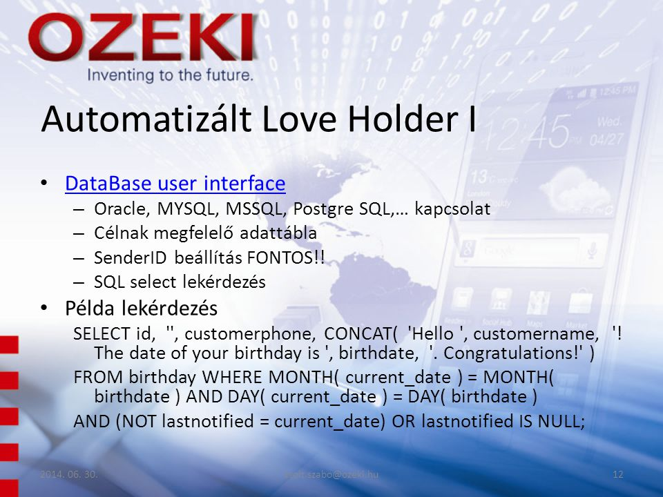 Automatizált Love Holder I