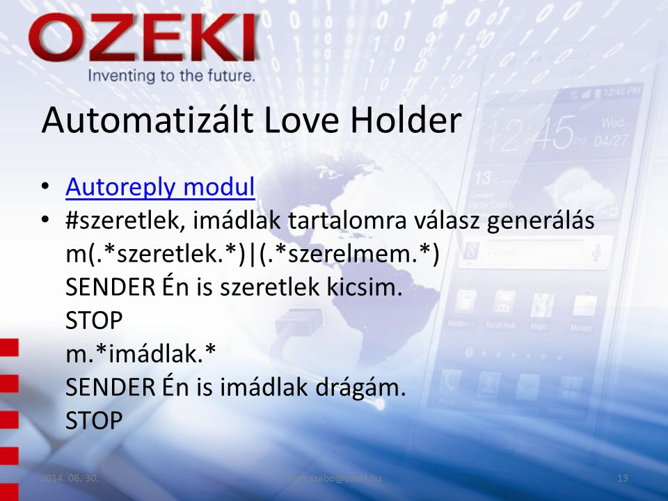 Automatizált Love Holder