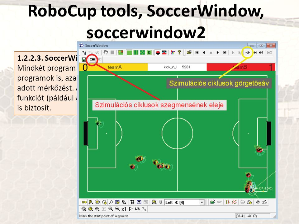 RoboCup tools, SoccerWindow, soccerwindow2