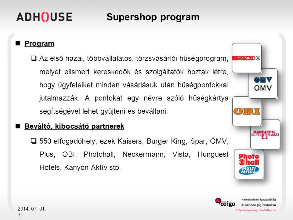 Supershop program Program