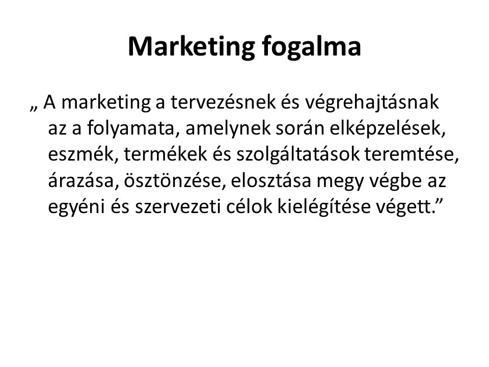 Marketing fogalma
