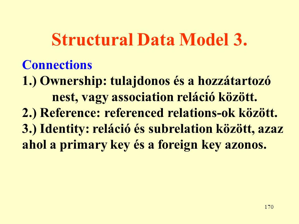 Structural Data Model 3. Connections