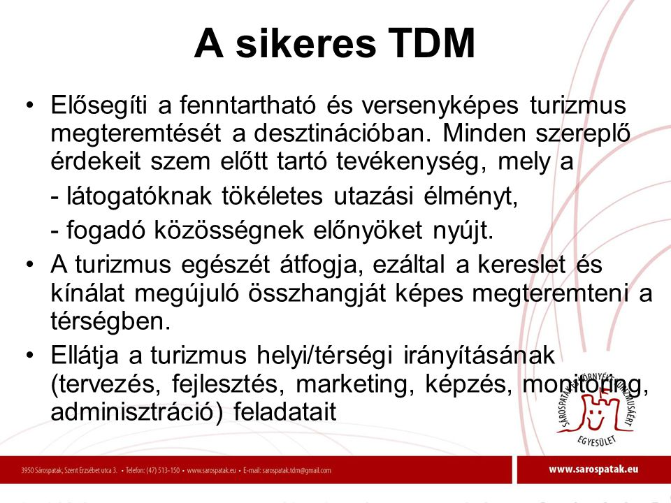 A sikeres TDM