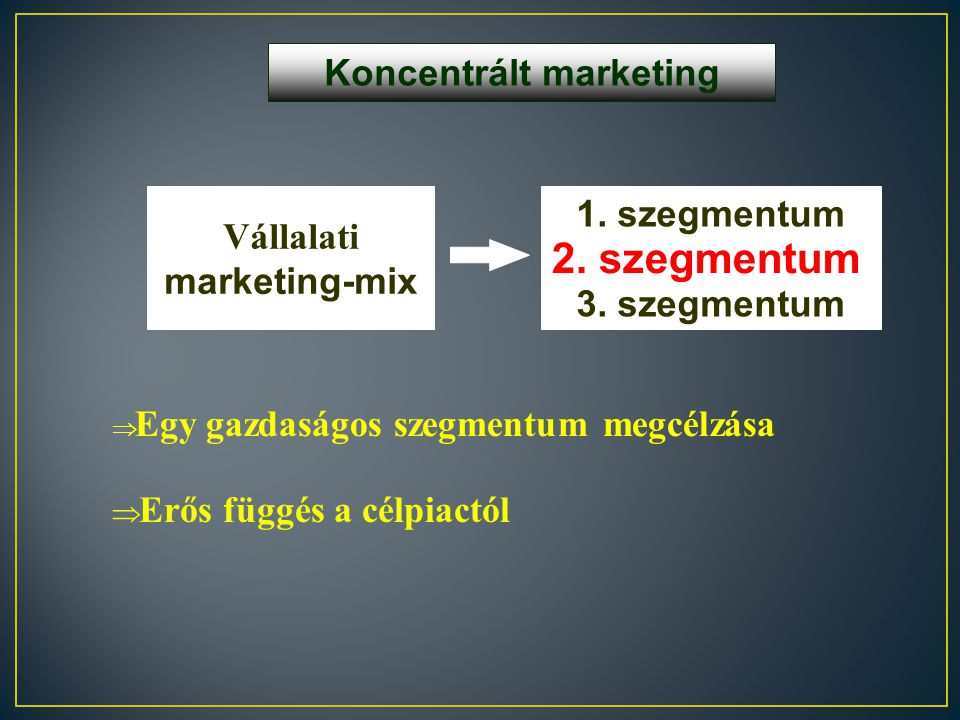 Koncentrált marketing