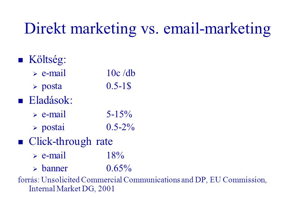 Direkt marketing vs.  -marketing