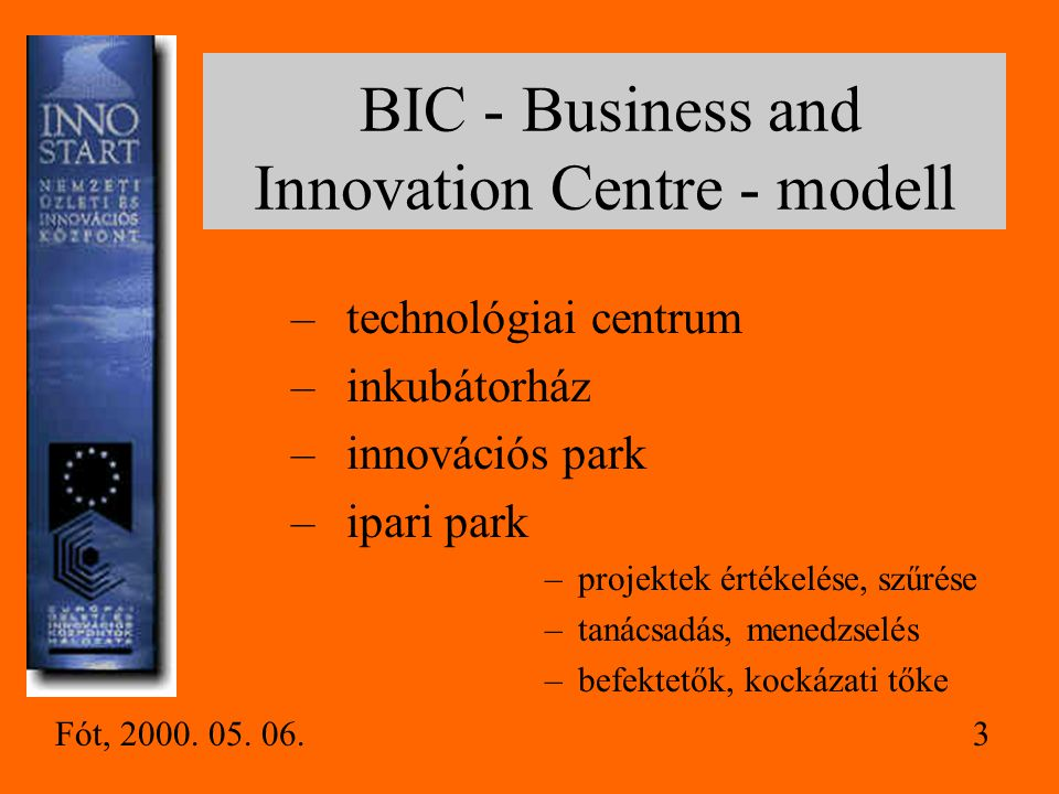 BIC - Business and Innovation Centre - modell