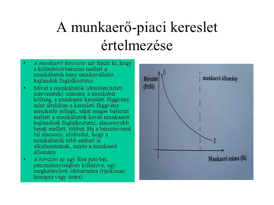 munkaerőpiac különböző szempontok szerint)